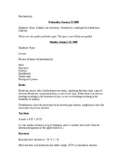 Biochemistry Notes Archive