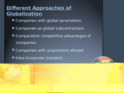7. Approaches to Globalisation