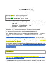 An Uncomfortable Bed Answer Key.docx - An Uncomfortable ...