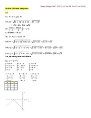 MATH 121 - WRITTEN EXERCISES-MODULE 3