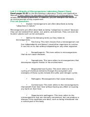 Lab 2-1 Ubiquity of Microrganisms Laboratory Report Sheet.docx
