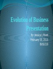 Week 2 Evolution of Business Presentation