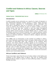 Conflict and Violence in Africa