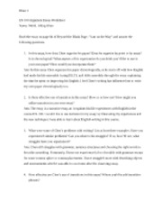 Argument Essay Worksheet - in class on 11-14