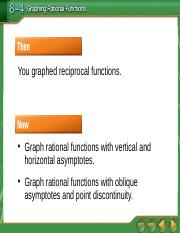 8.3 Graphing Rational Functions.ppt
