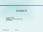 Lecture 5 -MO theory and Hybridization.ppt