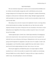 Reflection Essay #3