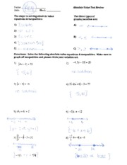Absolute Value Test Review