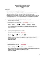 Practice Math Proficiency Test 1-key 2013 lam