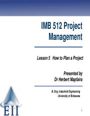 Lesson 6 How to Plan a Project 2014.pdf
