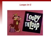 ESC101 Lecture 7 (Loops 1)