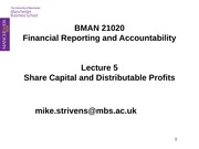 21020 Lecture 2.05a - Share Capital and Distributable Profits