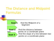 Distance, Midpoint, Slope