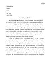 Poetry Comparison Contrast Essay