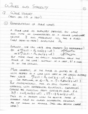 PHYS 495 Waves and Stability Notes