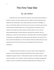 Essay- History of Revolutions- First total War review and analysis