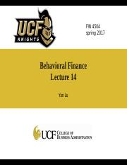 Lecture14-behavioral finance_c
