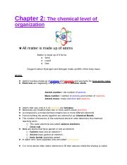 Chapter 2 chemical level of organization.docx