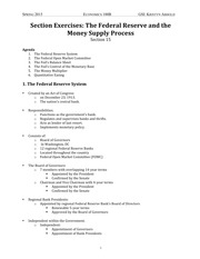 15 Section Exercises- The Federal Reserve and the Money Supply Process