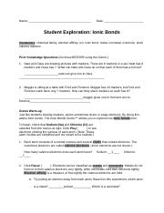 Ionic Gizmo - Name Austin Shaw Date Student Exploration ...