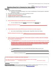 Expository Written Assignment, Part 1 Choosing Your Topic Adapted.docx