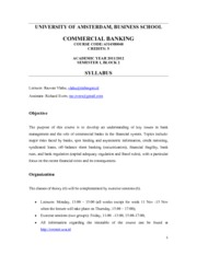 Syllabus Commercial Banking_2011_2012