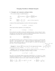 Limits of multiple integrals review