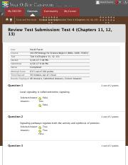 Test 4 (Chapters 11, 12, 13)