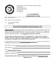 UC Overnight Form
