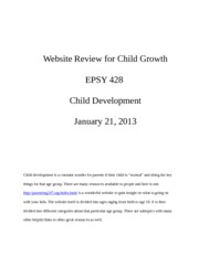 Website Review for Child Growth EPSY 428