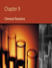Chemical Reactions - Chapter 9 Rev 4.0 Student Handouts Version