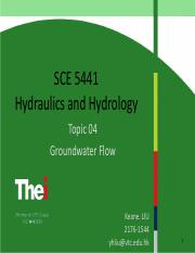 Topic 04-Groundwater Flow