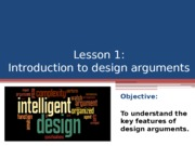 L1-2 Introduction to the design argument