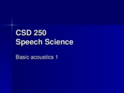 Speech Science