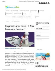 Proposal Form_ Basis of your insurance contract - Insurance Blog