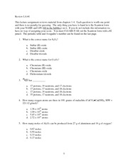 CHEM30 Chapter 1-4 Lecture Assignment with answers