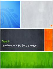 Chapter 15 - interference with the labour market