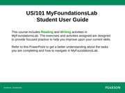 My Foundations Lab Student User Guide