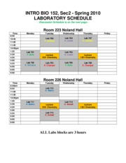 lab disc syllabus