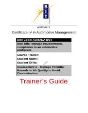Assessment 3 - Trainer's Guide.docx