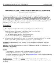 freakonomics documents  course hero sr freakonomics  doc