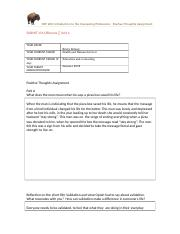 CEP 200 - Positive Thoughts Assignment -