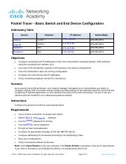 2.9.1 Packet Tracer - Basic Switch and End Device Configuration.pdf
