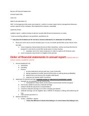 Review of 4 Financial Statements