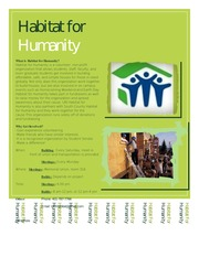 habitat for humanity flyer