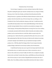 Essay 1 - Forrest Gump Production Story