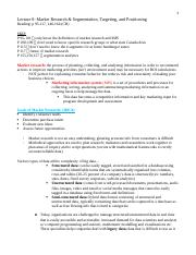 Lecture 8 Final Notes mos 1021 detailed
