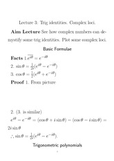 math for actuarial studies and finance lecture3
