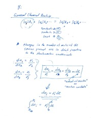 Reaction Equilibria Notes