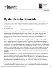 POL S 203-17 Power - Bystanders to Genocide